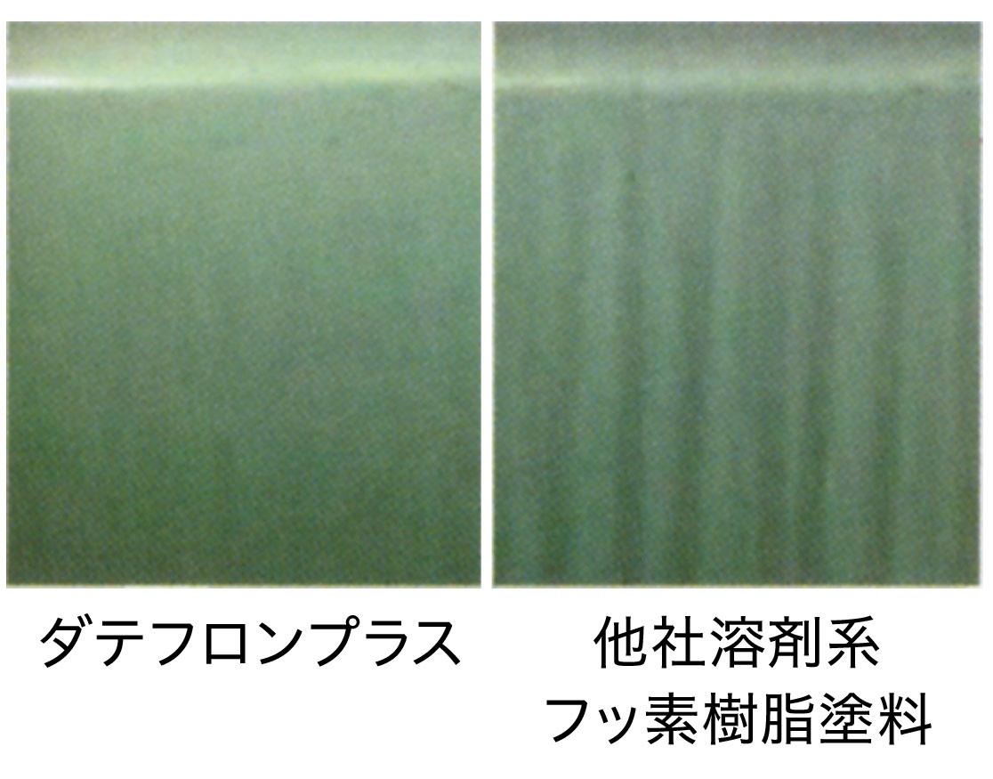 雨筋暴露実験比較画像