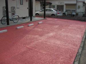 仙台市泉区Aアパート(駐車場路面塗装)(施工後)