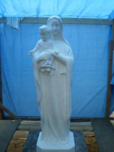 大籠カトリック教会マリア像塗装工事(施工後)