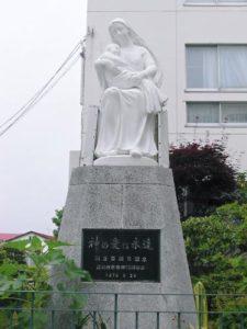 シャルトル聖パウロ修道院女会函館修道院マリア像塗装工事(施工前)
