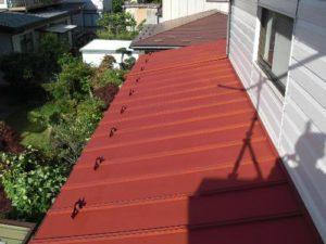 仙台市宮城野区S様邸屋根塗装(施工中1)