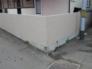 仙台市青葉区O邸様外塀補修塗装(施工後)