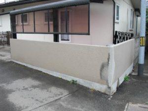 仙台市青葉区O邸様外塀補修塗装(施工中1)