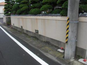 宮城県岩沼市Y様邸外塀塗装(施工前)