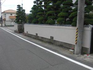 宮城県岩沼市Y様邸外塀塗装(施工後)