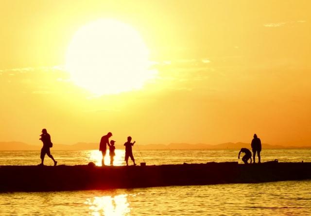 太陽と人々